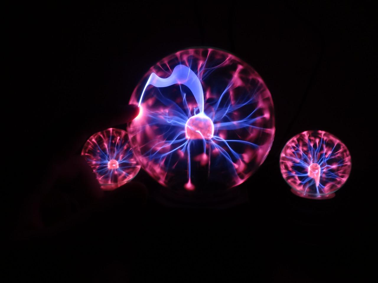 Плазменный шар Тесла, магический шар с молниями ночник!