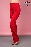 Элегантные красные женские брюки Флоренсе ТМ Luzana 42-52 размеры