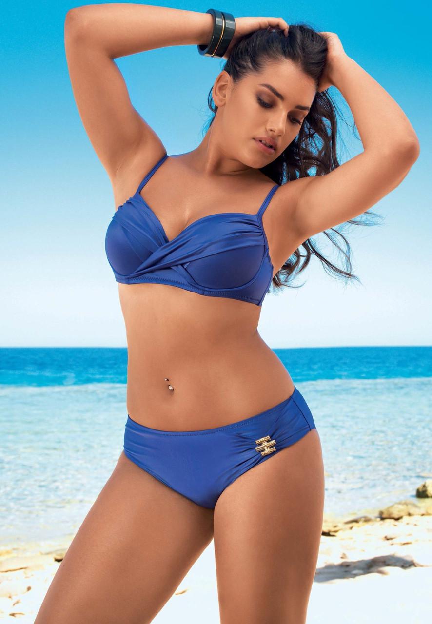 0b9766efd05a6 Роздільний жіночий купальник синього кольору Amarea 17203 розм.52 - ЛАУМА в  Львове
