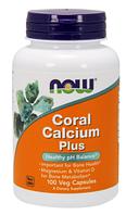 Коралловый Кальций Плюс, Now Foods, Coral Calcium Plus, 100  vcaps