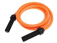 Скакалка с утяжеленным PVC жгутом вес 1500г диам.22мм 2,7м оранжевая
