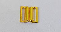 Застежка для  купальника  15мм  золото