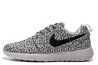 Мужские кроссовки Nike Roshe Run  Flyknit Turtle Grey , фото 1