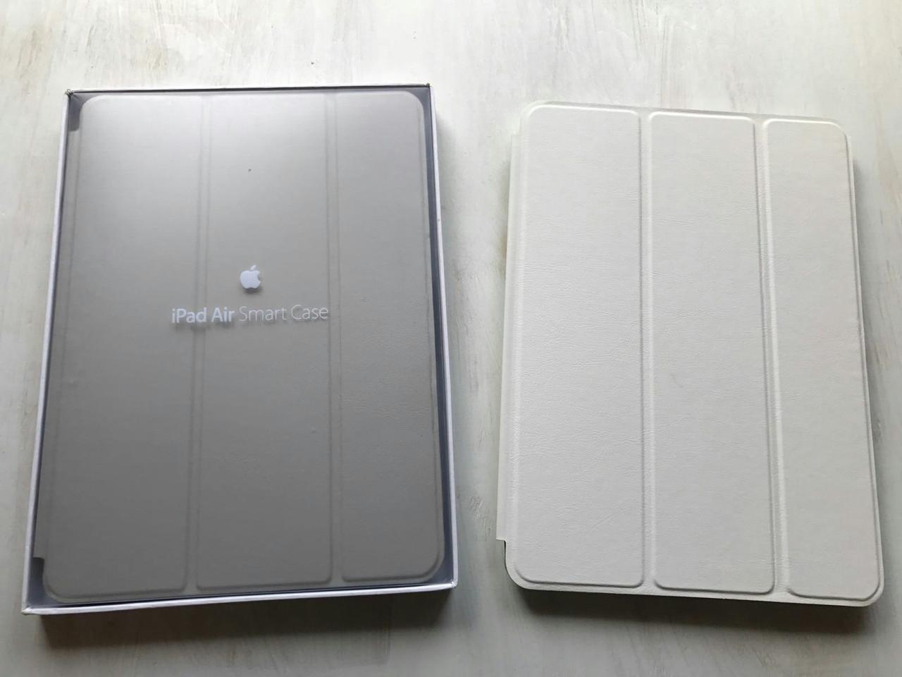Белый кожаный чехол Smart Case для iPad Air