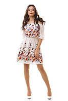 Женское стильное платье с вышивкой - IK3038