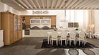 Кухня угловая бежево-коричневая Кавента