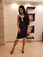 Вечернее платье с кружевом, фото 1