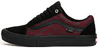 Мужские кеды Vans Old Skool Pro Port Royale Black/Red