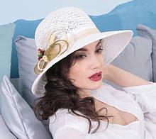 Летняя шляпа с средне-большими полями 10 см из соломки