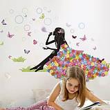 Детские интерьерные виниловые наклейки на стену , детскую комнату, детского сада Девочка  (2480120), фото 2