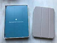 Серый кожаный чехол для iPad mini 1/2/3