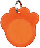 Адресник-лапка Trixie для собак флуорисцентный, 3.5 см