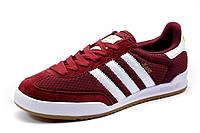 Кроссовки Adidas Jeans мужские, текстиль, бордовые, р. 42 44 45 46