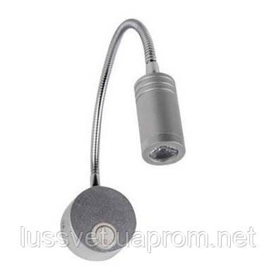 Светильник для подсветки на гибкой ножке Horoz TURNA 3Вт