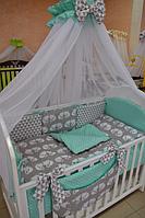 Балдахин в детскую кроватку 120/60 (расцветки в ассортименте)