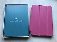 Розовый кожаный чехол для iPad mini 1/2/3