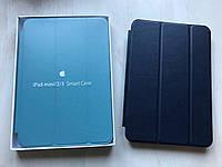 Тёмно - синий кожаный чехол для iPad mini 1/2/3
