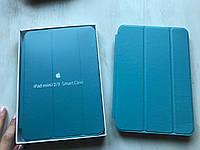 Голубой кожаный чехол для iPad mini 1/2/3