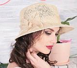 Шляпа  для лета средние поля  из рисовой соломки размер 55-57 см, фото 4