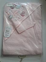 Махровое полотенце-уголок с мочалкой