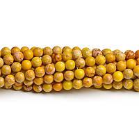 10 мм Жёлтый варисцит, Натуральный камень,бусины 10 мм, Круглые, Отверстие 1,5 мм, кол-во: 38-39 шт/нить