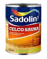 Лак для бани Sadolin Celco Sauna 1л - Акриловый полуматовый лак для бани и сауны (Садолин Cелко Сауна)