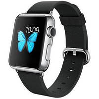 Apple Watch 38mm Stainless Steel Case with Black Classic Buckle, фото 1