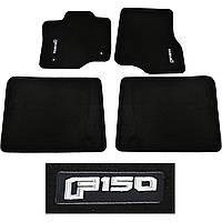 Коврики в салон велюровые черные Ford F F150 2014-17 4 двери большая двойная кабина Новые Оригинальные