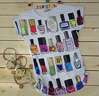 Модная футболка на девочку Гламур  рост 140-176