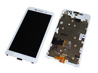 Дисплей Blackberry Z30 complete with touch and frame White