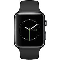 Apple Watch 42mm Space Black Stainless Steel Case with Black Sport Band