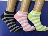 Носки женские хлопок укороченные полоска Шугуан