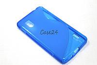 Чехол накладка бампер для LG E975 Optimus G синий