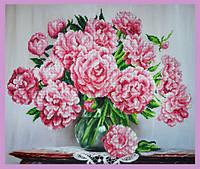 Набор для вышивания бисером Букет розовых пионов