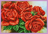Набор для вышивания бисером Красные розы
