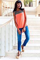 Яркая Туника Блуза с Удлиненной Спинкой Оранжевая р. S M L XL S
