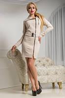 Женское демисезонное платье с поясом   Разные цвета