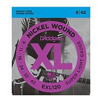 Струны D`ADDARIO EXL120 XL SUPER LIGHT (09-42)