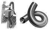 Дымоход гофрированный нержавеющая сталь ф 130мм LEX, фото 3