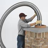 Дымоход гофрированный нержавеющая сталь ф 130мм LEX, фото 4