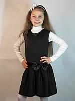 Школьный сарафан черный Бант для девочки 6,7,8,9,10,11 лет