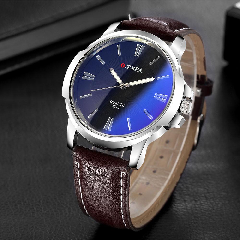 Мужские часы O.T.Sea blue ray black brown