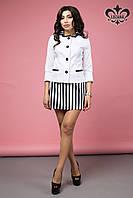 Женский белый пиджак Бриз ТМ Luzana 42-50 размеры