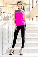 Яркая Туника Блуза с Удлиненной Спинкой Малиновая р. S M L XL L