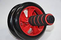 Колесо-триммер двойное  (d колеса-14см, металл, пластик, резина, ручка-резина, с ковриком), фото 1
