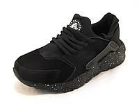 Кроссовки женские Nike Huarache замша черные (р.39)