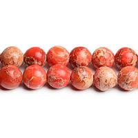 10 мм Оранжевый варисцит, Натуральный камень, бусины 10 мм, Круглые, Отверстие 1,5 мм, кол-во: 38-39 шт/нить