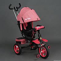 Новинка! Велосипед трехколесный Best trike 6595+поворот сидения(розовый)