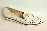 Балетки женские белые баталы (р41), фото 1