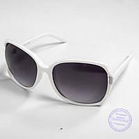 Оптовая распродажа женских солнцезащитных очков - Белые - 741